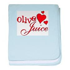 Olive Juice (I Love You) baby blanket