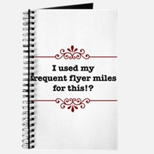 I used my frequent fyler mile Journal