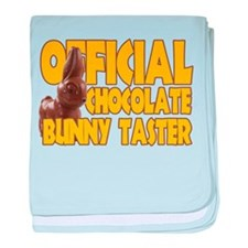 Official Chocolate Bunny Taster baby blanket