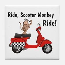 Classic ScooterMonkey Tile Coaster