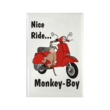 Classic ScooterMonkey Rectangle Magnet (100 pack)