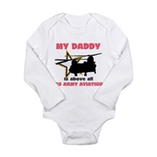 Unique Army aviation wife Long Sleeve Infant Bodysuit