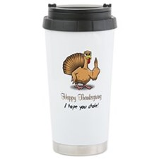 Bird Flipping Bird Travel Mug
