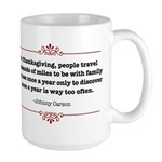 Once a year, too often! Large Mug