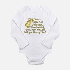 Will you marry Daddy? Long Sleeve Infant Bodysuit