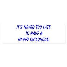 Happy Childhood Bumper Car Sticker