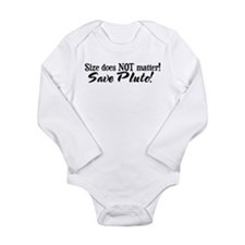 Save Pluto Long Sleeve Infant Bodysuit