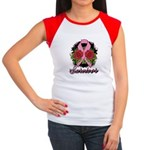 Breast Cancer Rose Tattoo Women's Cap Sleeve T-Shi