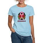 Breast Cancer Rose Tattoo Women's Light T-Shirt