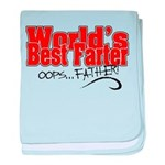 World's Best Farter (oops.. FATHER!) baby blanket