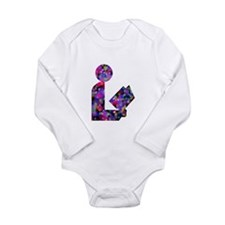 Slightly Dotty Library Logo Long Sleeve Infant Bod