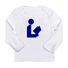 Blue Tinfoil Library Logo Long Sleeve Infant T-Shi