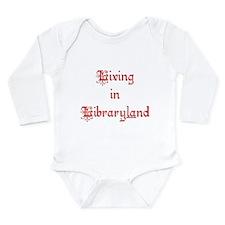 Living in Libraryland Long Sleeve Infant Bodysuit