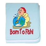 Born To Fish Infant Blanket