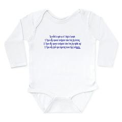 3 Kinds of People Long Sleeve Infant Bodysuit