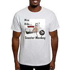 ScooterMonkey Lambretta Ash Grey T-Shirt