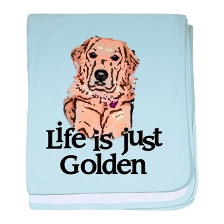Life is Just Golden baby blanket