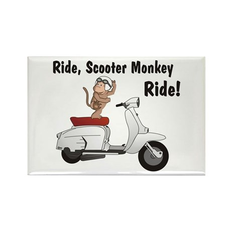ScooterMonkey Lambretta Rectangle Magnet (100 pack