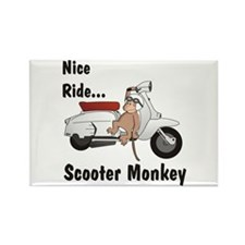 ScooterMonkey Lambretta Rectangle Magnet
