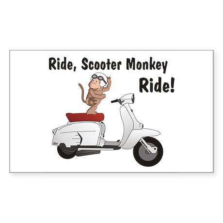 ScooterMonkey Lambretta Rectangle Sticker