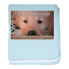 Your heart strikes gold Infant Blanket