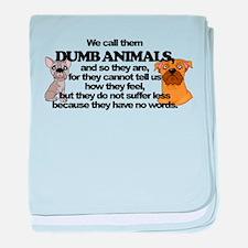 Dumb Animals baby blanket