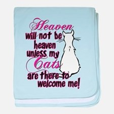 Heaven with no cats? Infant Blanket