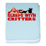Sleeps With Critters Infant Blanket