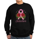 Breast Cancer Rose Tattoo Sweatshirt (dark)