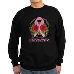 Breast Cancer Rose Tattoo Sweatshirt (dark)