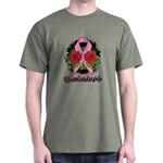 Breast Cancer Rose Tattoo Dark T-Shirt