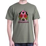 Breast Cancer Rose Tattoo Dark T-Shirt
