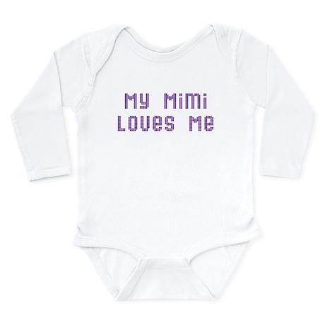My Mimi Loves Me! (Pink/Blue Long Sleeve Infant Bo