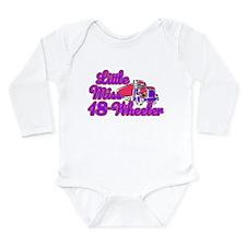 Little Miss 18-Wheeler Long Sleeve Infant Bodysuit
