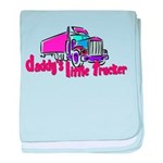Daddy's Little Trucker baby blanket