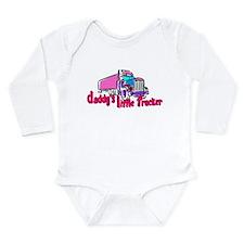 Daddy's Little Trucke Long Sleeve Infant Bodysuit