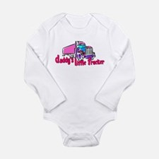 Daddy's Little Trucke Long Sleeve Infant Bodysuit