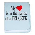 My Heart in the Hands Trucker baby blanket