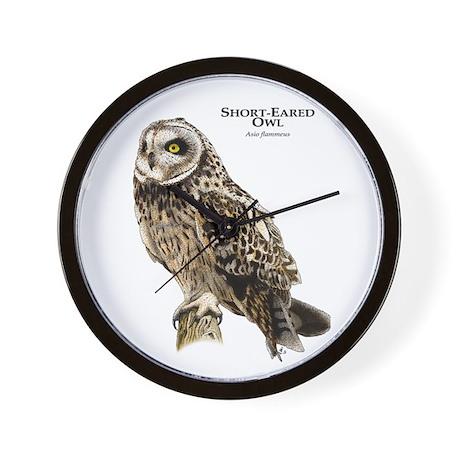 Short-Eared Owl Wall Clock