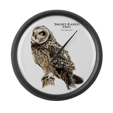 Short-Eared Owl Large Wall Clock