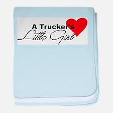 Trucker's Little Girl Infant Blanket