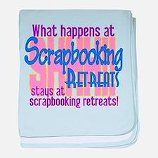 Scrapbooking Retreats Shhh! baby blanket