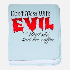 Evil Coffee baby blanket