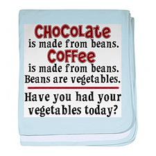 Chocolate & Coffee baby blanket
