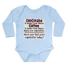 Chocolate & Coffee Long Sleeve Infant Bodysuit