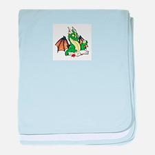 Green Bookdragon Infant Blanket
