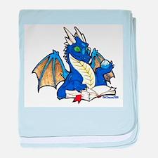 Blue Bookdragon Infant Blanket