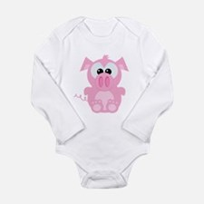 Goofkins Cute Little Piggy Long Sleeve Infant Body
