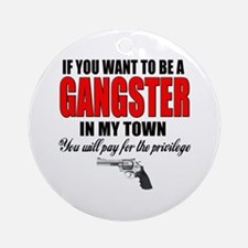 Gangster Ornament (Round)