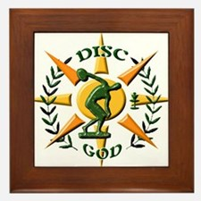 Disc God Framed Tile